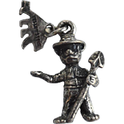 "Vintage Hallmarked STERLING SILVER Yellowstone Park ""Smokey The Bear"" Charm"