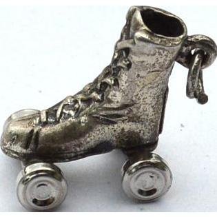 Vintage Hallmarked STERLING SILVER Mechanical Roller Skate Rollerskate Charm