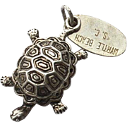 Vintage Hallmarked STERLING SILVER Myrtle Beach, South Carolina Turtle Charm