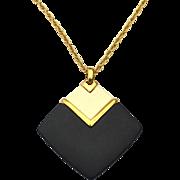 Vintage Signed CROWN TRIFARI Modernist Lucite Necklace