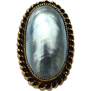 Early Vintage Hallmarked GOLD FILLED Mabe Pearl Pin