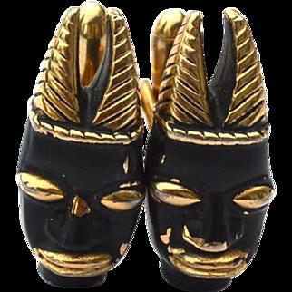 Vintage Signed SWANK Blackamoor Mask Cufflinks