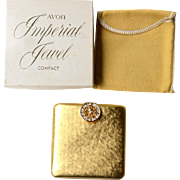 Vintage AVON Imperial Jewel Compact, Original Box and Packaging, Never Used