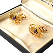 Vintage Anson MASONIC Mason Cufflinks, Original Box