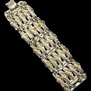 Vintage Oversized Signed CORO Pegasus Gold Toned Bracelet