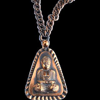 Vintage Copper Ethnic Asian Pendant Necklace
