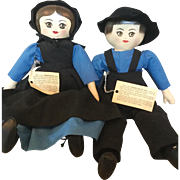 "Presbyterian Dolls Boy and Girl All Original 1975 16"" Tall"