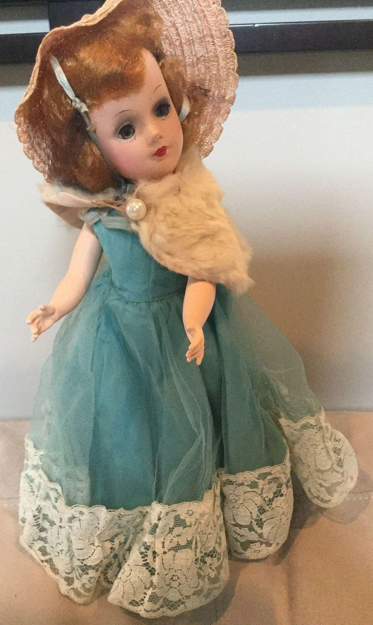 "14"" Mary Hoyer Hard Plastic Doll All Original 1950's"