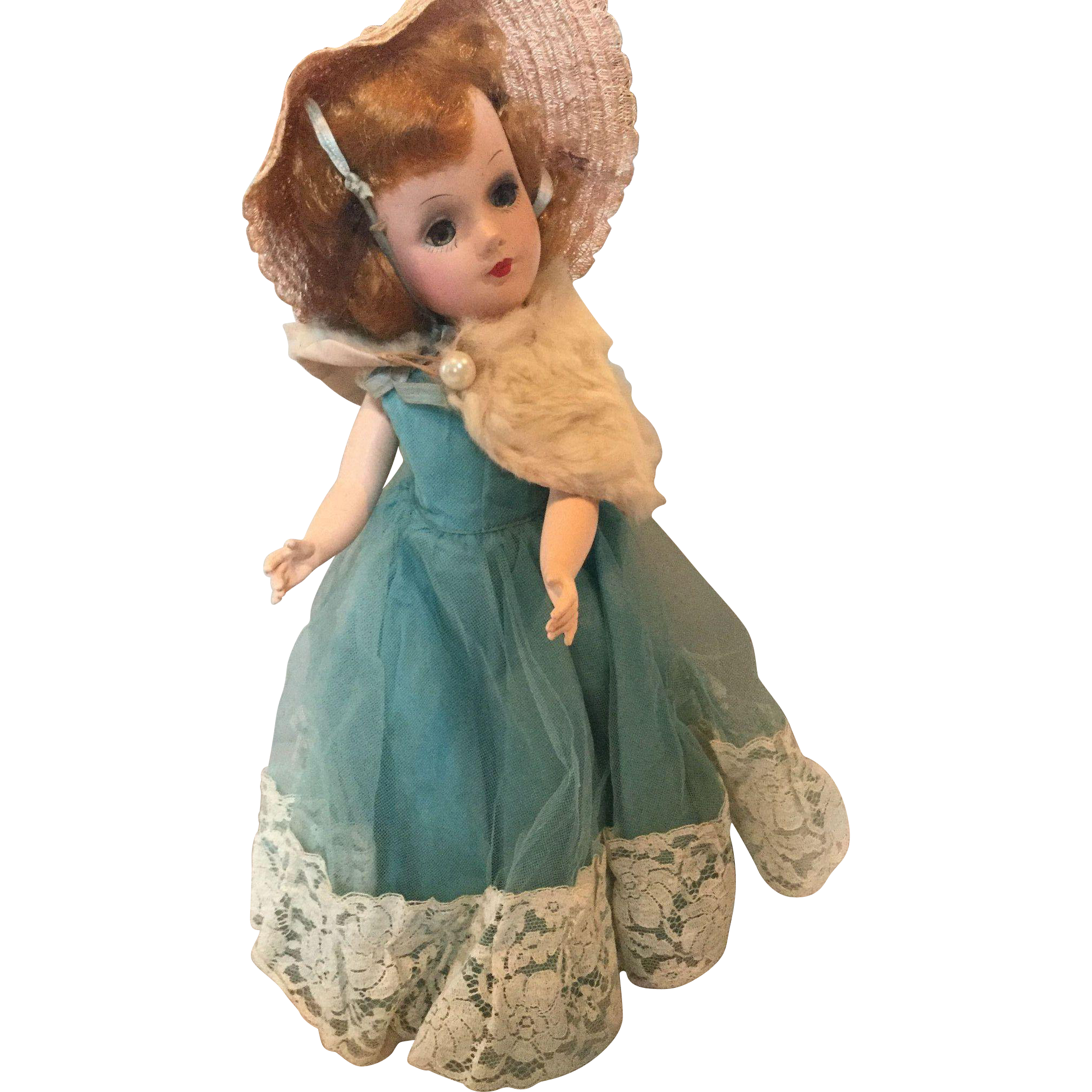 "14"" Mary Hoyer Hard Plastic Doll All Original 1950's"