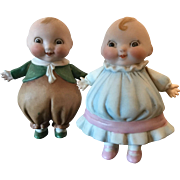 Happifats All Bisque German Dolls made by Borgfedt in Germany stamped