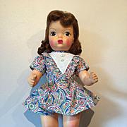 "16"" Vintage Terri Lee Auburn Raysheen Wig Original Onesie 1950's"
