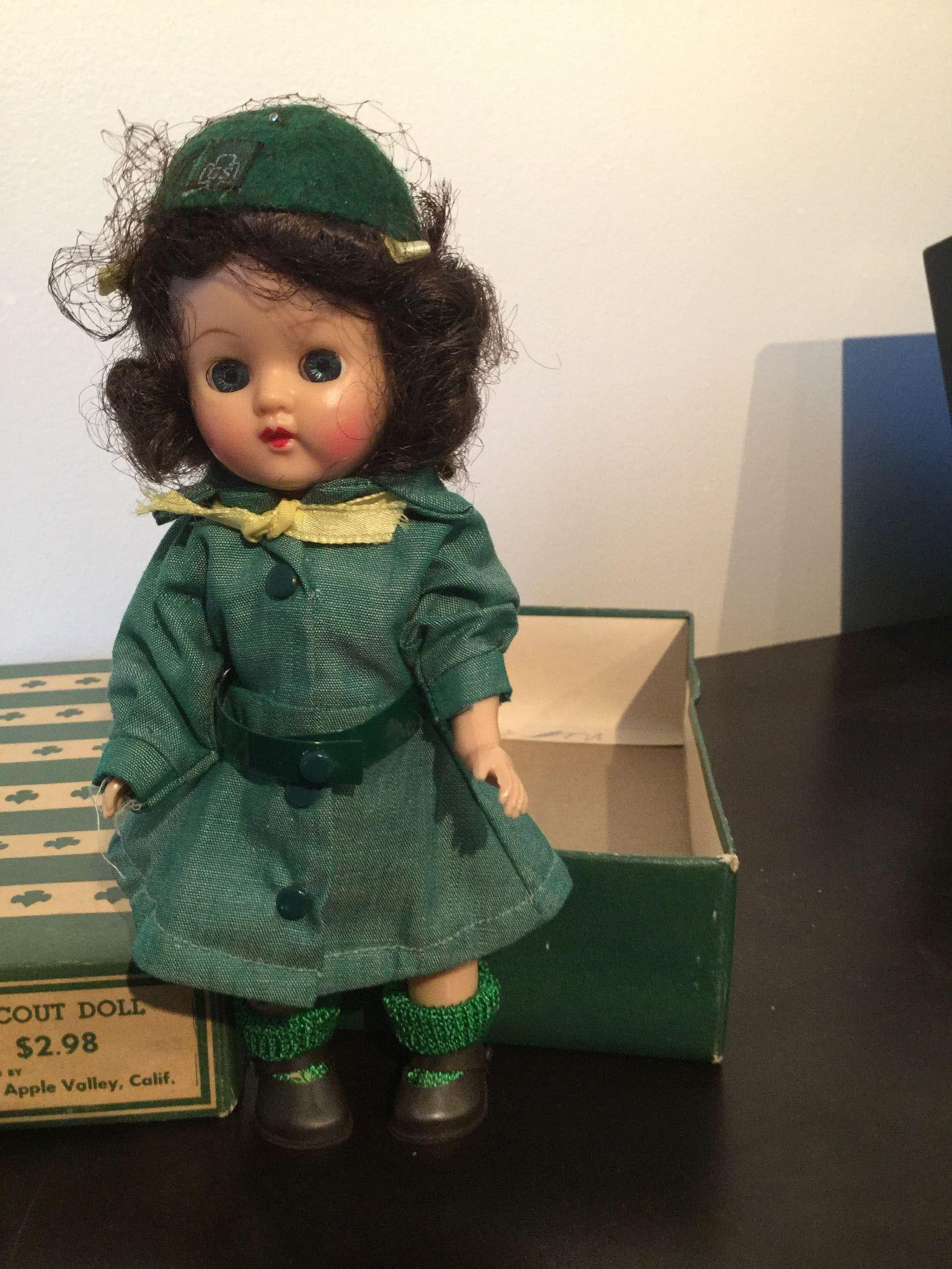 "8"" Official Girl Scout Doll sold by the Terri Lee Sales Co. Ginger Doll 1950's"
