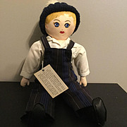 Presbyterian Boy  Doll Blonde Painted Hair Bucyrus, Ohio 1975