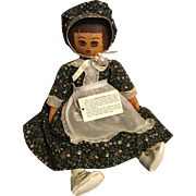 "16"" older Presbyterian Doll cloth painted paper tag HK initials"