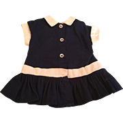 """Doll Clothing 16"""" Terri Lee Navy Dropped Waist Dress tagged 1950's"""