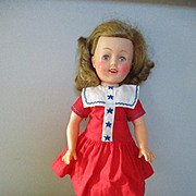 "12"" Vinyl Shirley Temple 1950s Ideal Doll"
