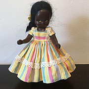 Topsy  Black Hard Plastic Sleep Eyes Nancy Ann Storybook Doll 1950's