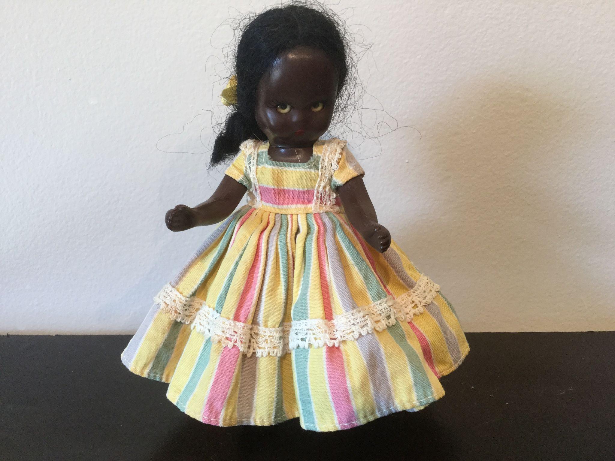 Topsy  Black Hard Plastic Sleep Eyes Nancy Ann Storybook Doll 1950's