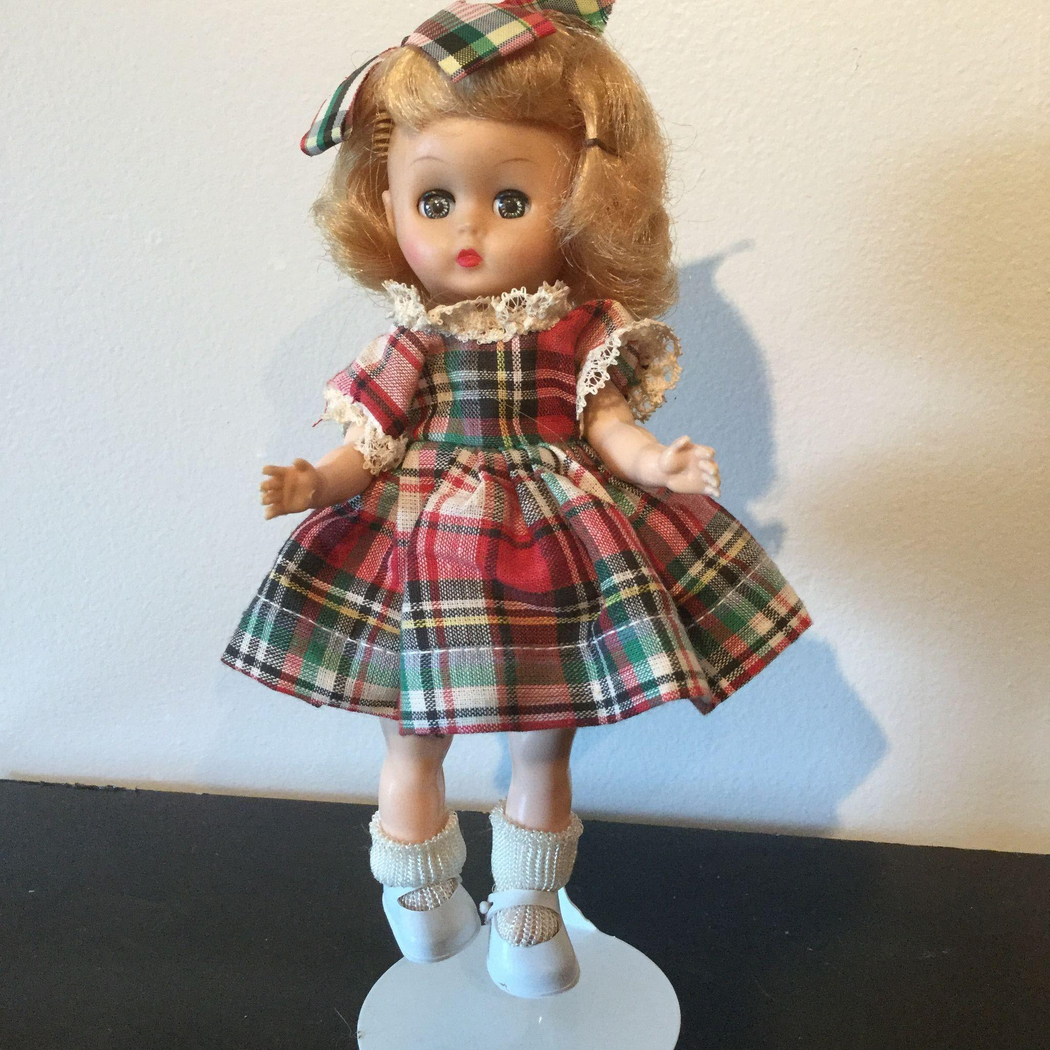 "Ginger Doll 8"" vinyl head hard plastic body 1950's"