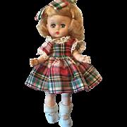 """Ginger Doll 8"""" vinyl head hard plastic body 1950's"""