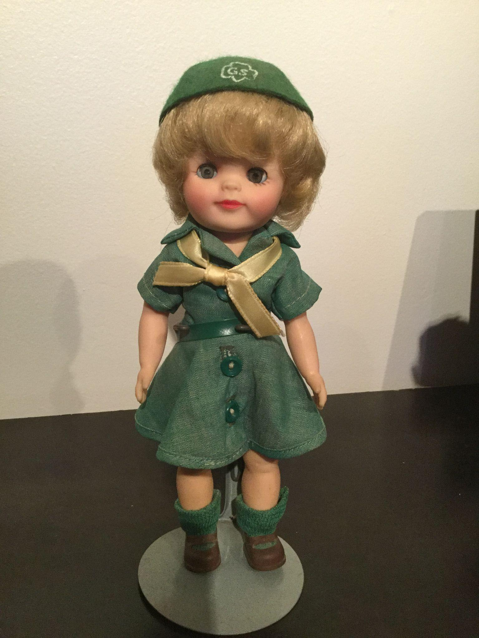 "Girl Scout 8"" Effanbee vinyl doll 1965 all original"