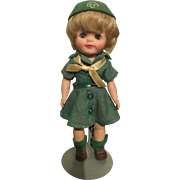 "Girl Scout 8"" Effanbee vinyl doll 1965 all original"