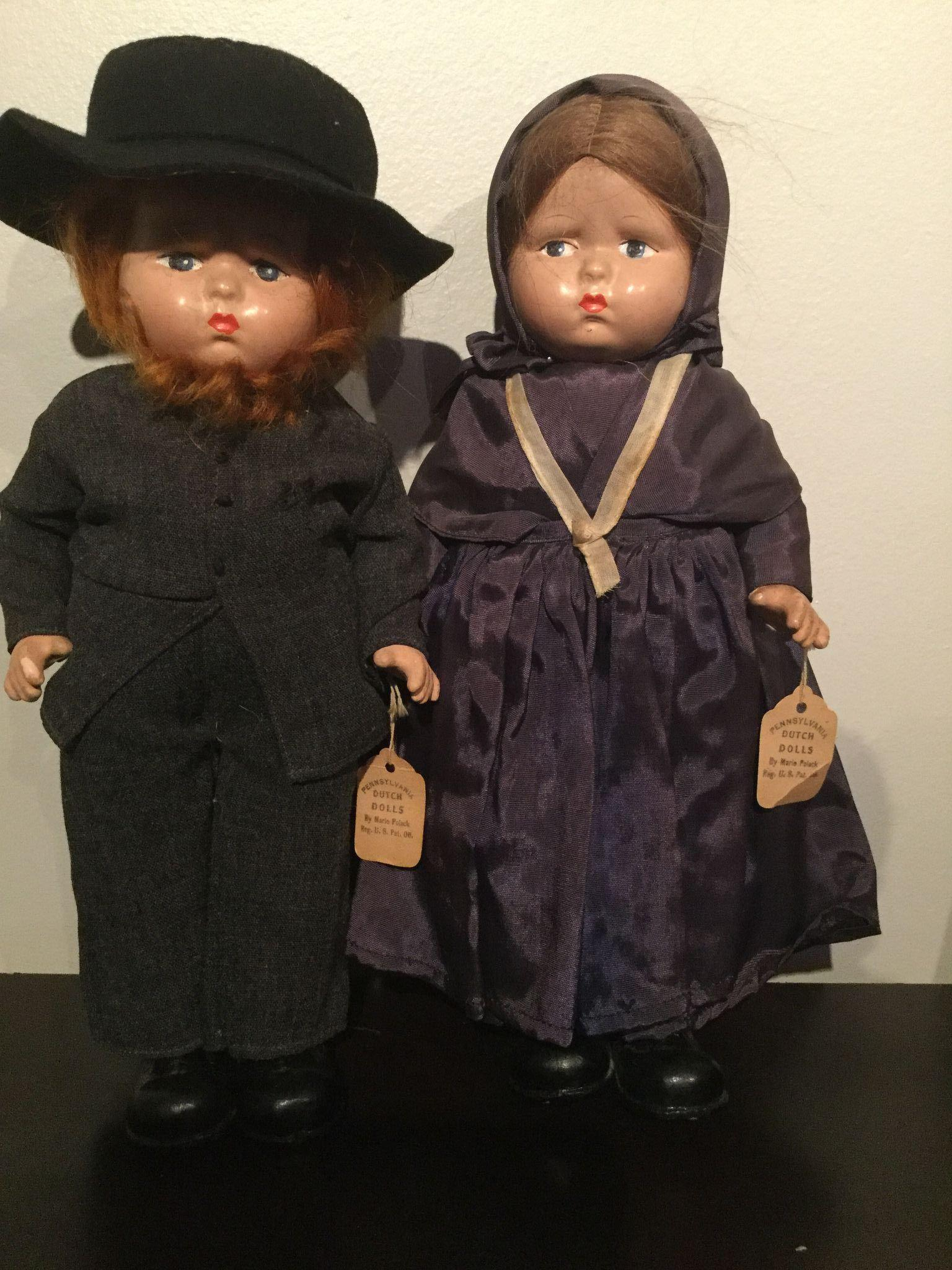 Effanbee composition DOLLS Pennsylvania Dutch 1940's