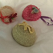 "Three vintage 1950's hats for 8""dolls Ginny, Muffie, Ginger, Alexander-kins"