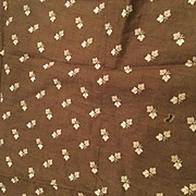 Brown Leaf 1880's antique Fabric remnant