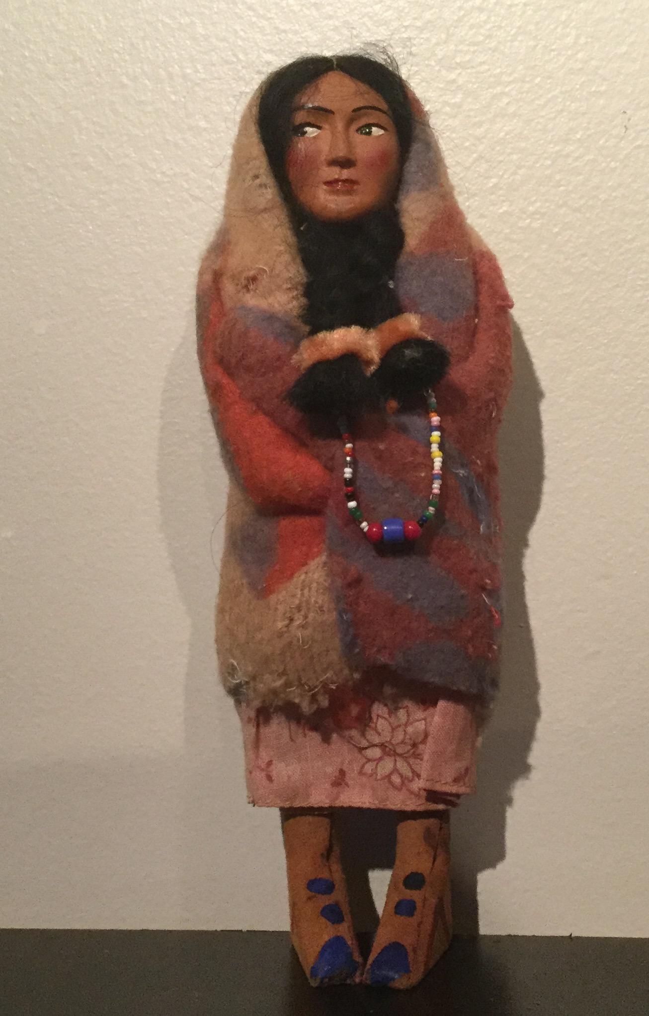 """9"""" Skookum Indian wool blanket wrapped"""