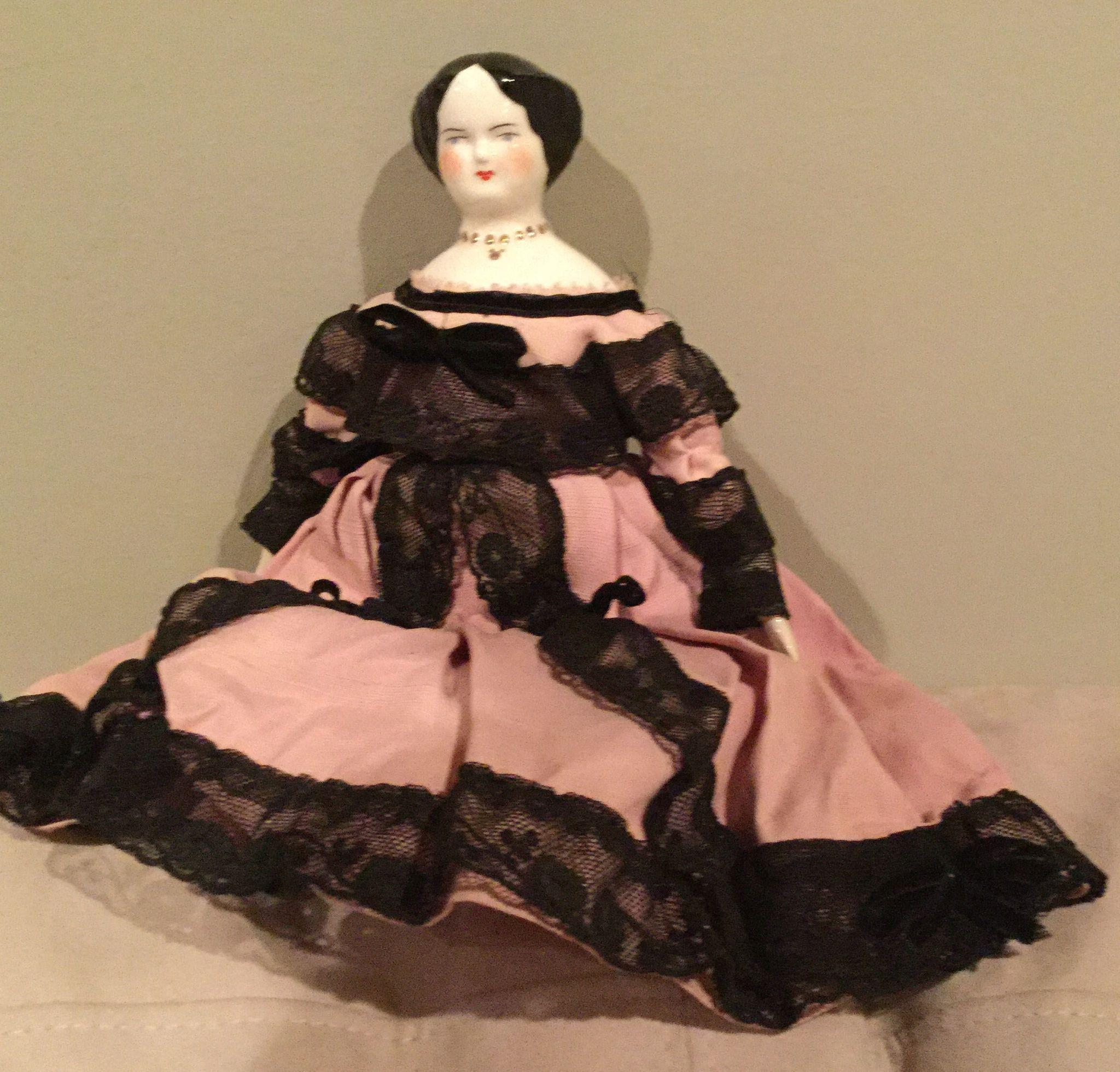 "13"" Ruth Gibbs China Doll Mrs. Eustis"