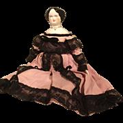 """13"""" Ruth Gibbs China Doll Mrs. Eustis"""