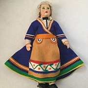 "10"" cloth Doll Felt Costume foreign doll"
