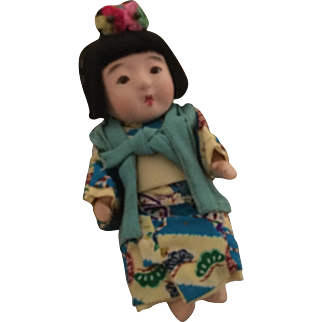"8"" Oriental Baby in original box All Original Outfit 1940's"