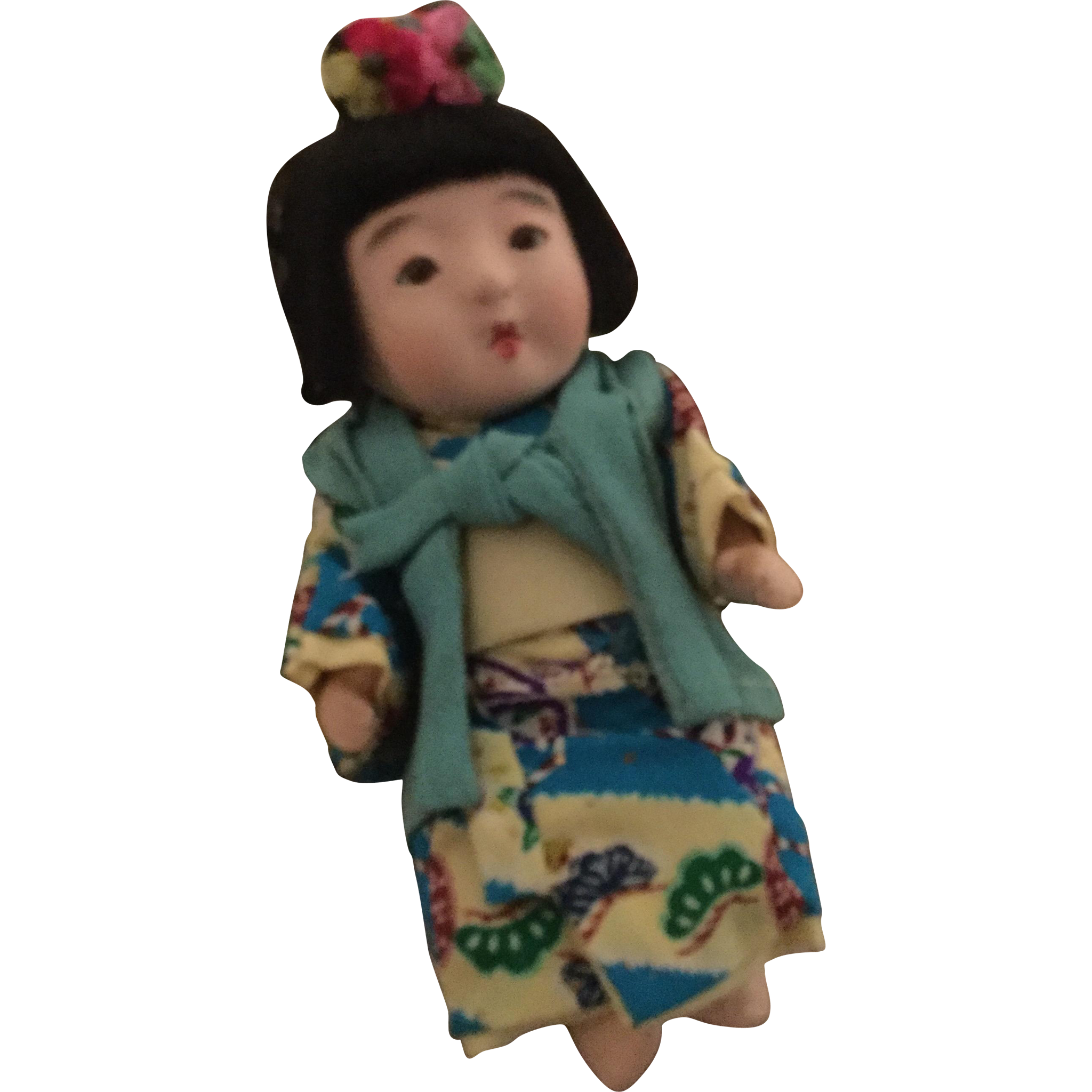 """8"""" Oriental Baby in original box All Original Outfit 1940's"""