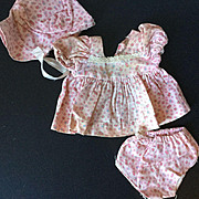 3 piece Dress Set Bonnet, Dress and Pants 1940's