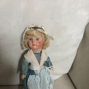 "8"" all Original Doll painted head sticker on skirt"
