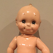 "Rare 13""  Hard Plastic Sleep Eyes Kewpie by Cameo 1960's"