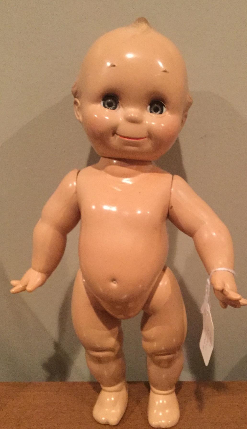 "Rare 13""  Hard Plastic Sleep Eyes Kewpie by Cameo 1960's"