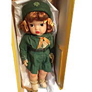 Terri Lee Patent Pending Girl Scout all original with Daisy, tag, and old box 1950s