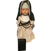 "Our Little Sister Composition Nun Doll 13"" tall"