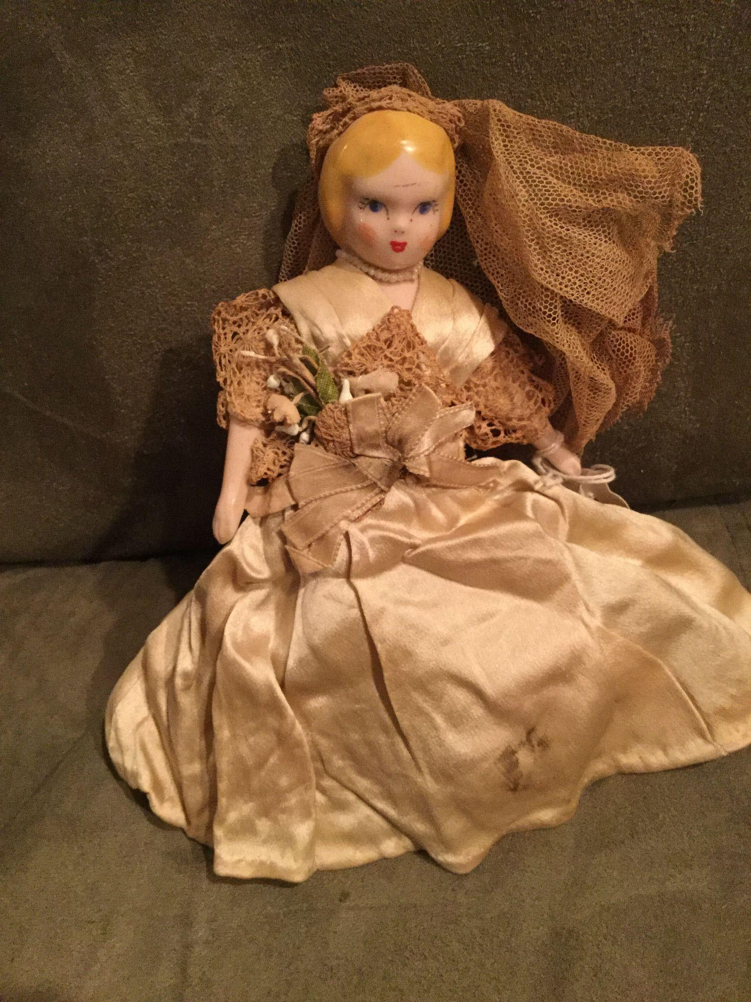 Ruth Gibbs white China doll 1950s