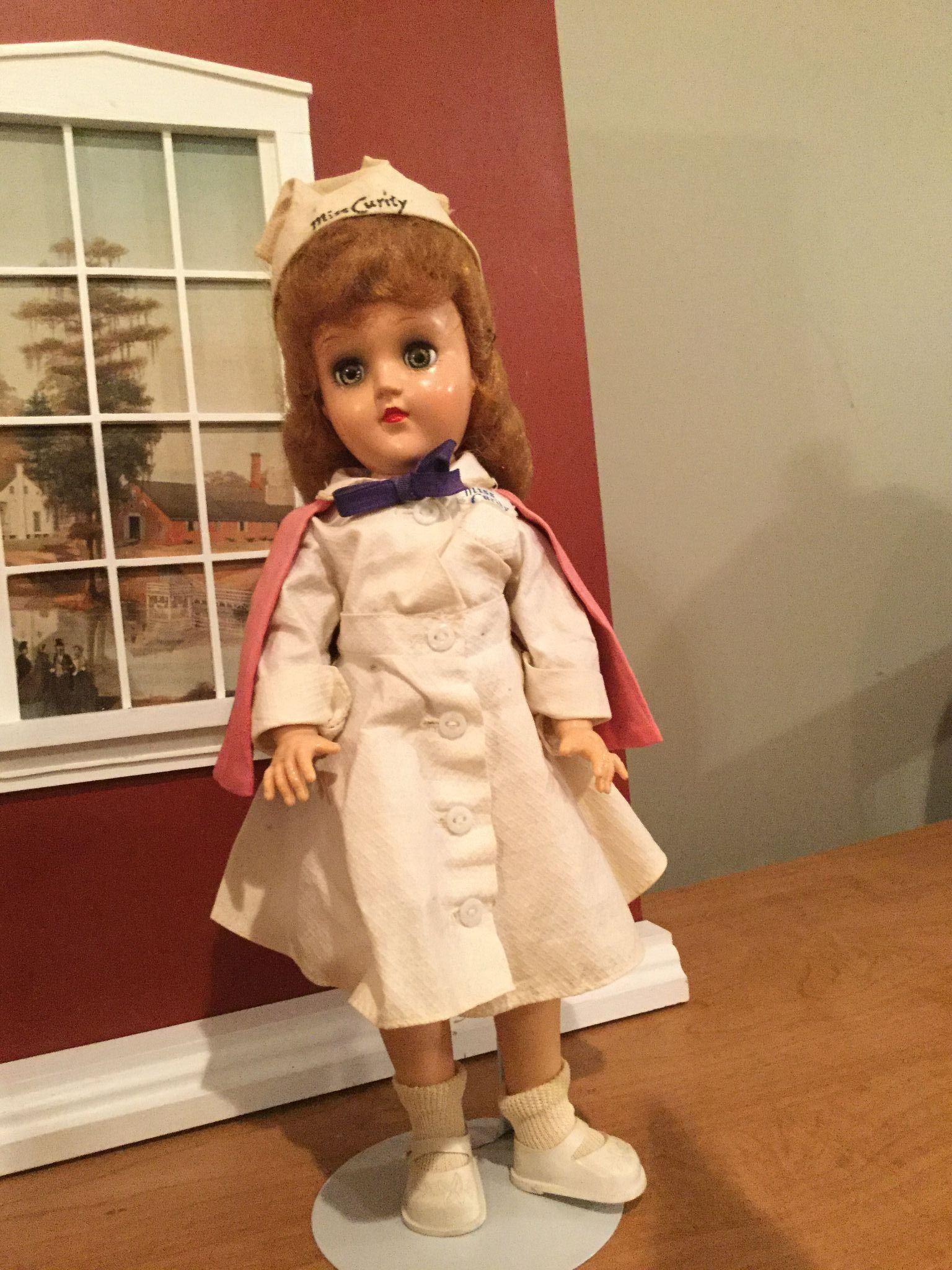 "14"" hard plastic Miss Curity Ideal Nurse Doll"