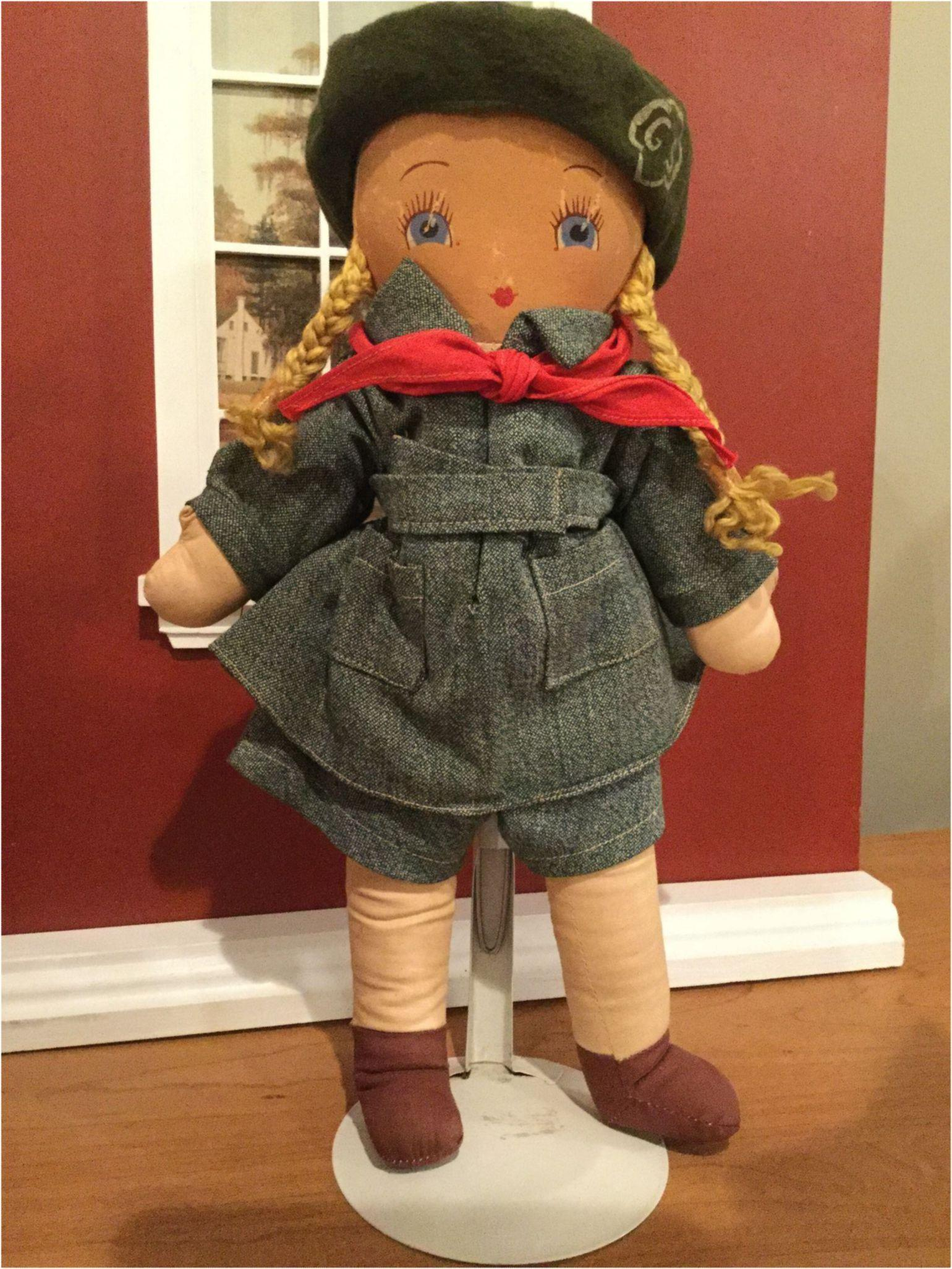 Georgene novelties flat face Girl Scout Doll