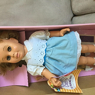 Chatty Cathy Doll remake by Mattel discontinued now  talks and has shoe horn.  Boxed