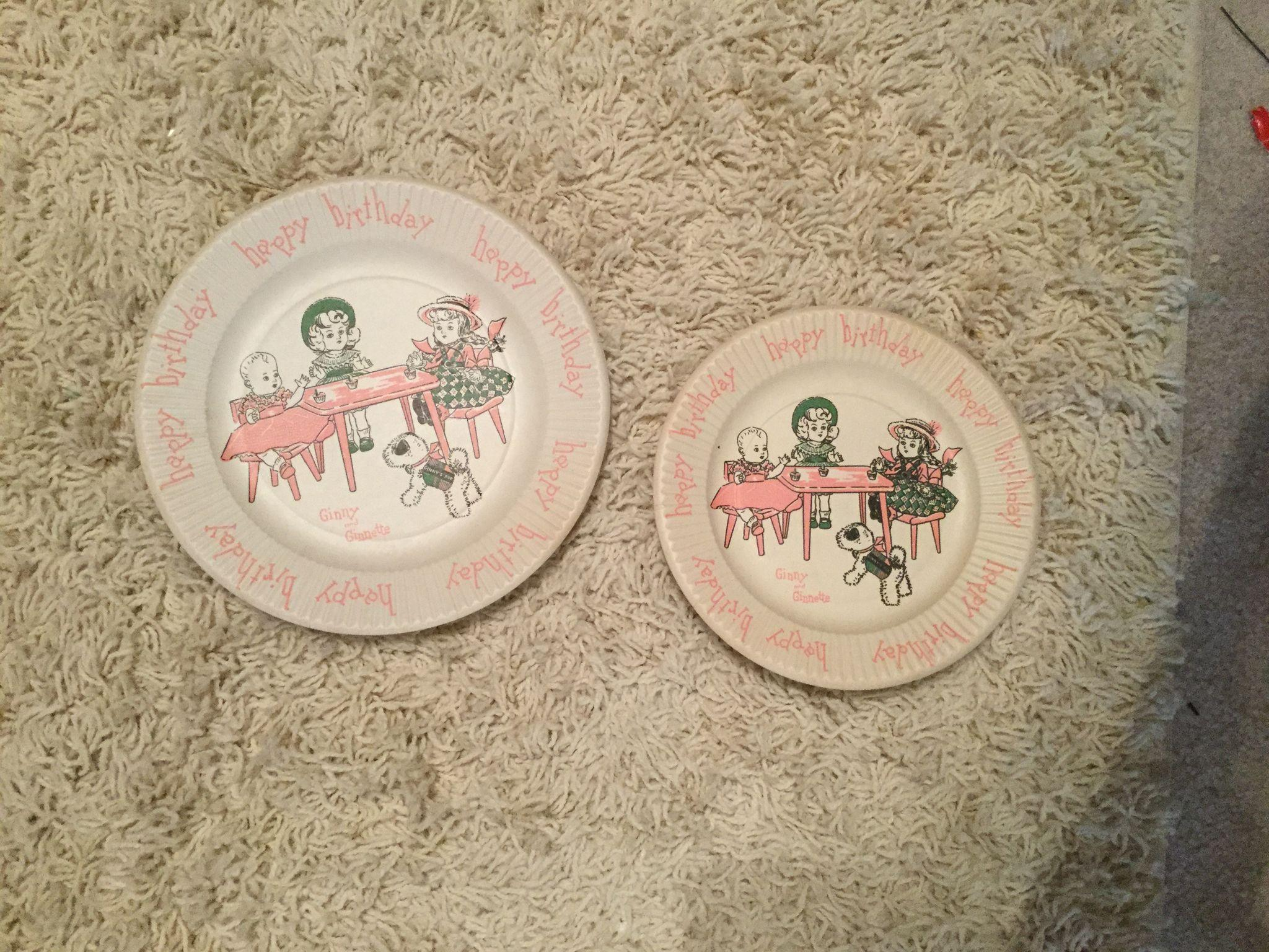 Ginny paper party plates 1950's