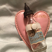 Ginnette baby a bottle and heart pillow Vogue 1950'