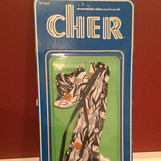 Cher Outfit Mego still on Card 1970s