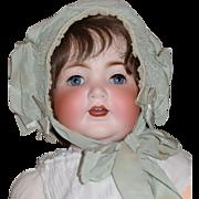 Pale Green Silk Baby Bonnet