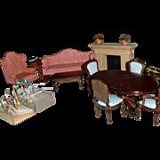 Vintage Dollhouse Furniture 19 Pieces
